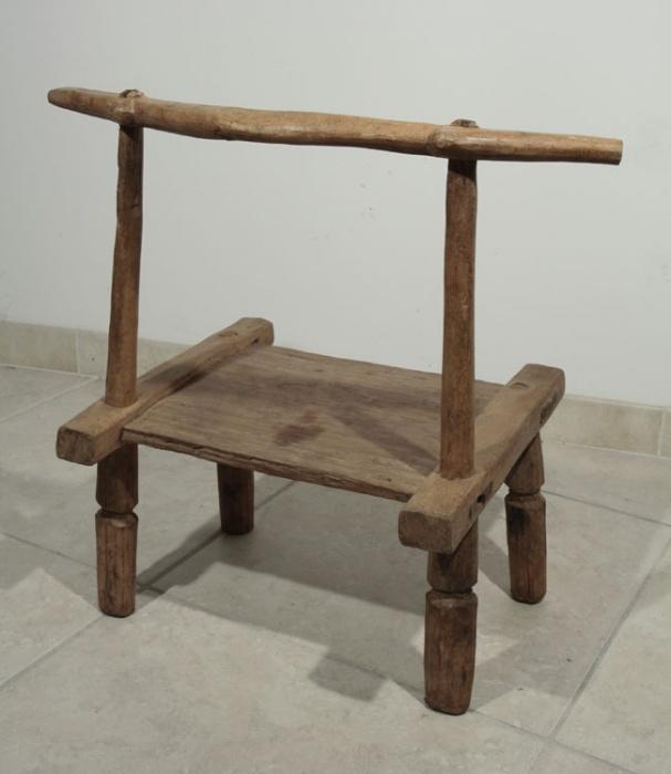 Ancienne chaise africaine baoul 10 60 galerie art - Chaise art contemporain ...