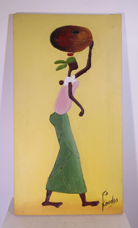 Fo et koudjo artistes peintres africains de c te d 39 ivoire 19 45 galerie art africain masques - Cote d un artiste peintre ...