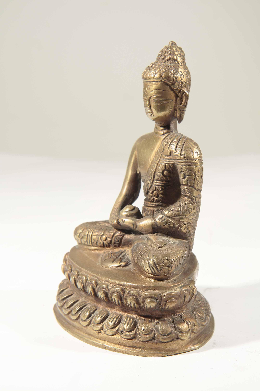 statue bouddha en bronze d 39 inde 51 35 galerie art africain masques et statues africaines. Black Bedroom Furniture Sets. Home Design Ideas
