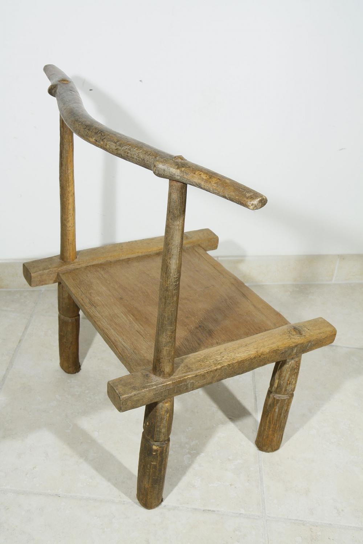 ancienne chaise africaine baoul de c te d 39 ivoire 03 90 galerie art africain masques et. Black Bedroom Furniture Sets. Home Design Ideas