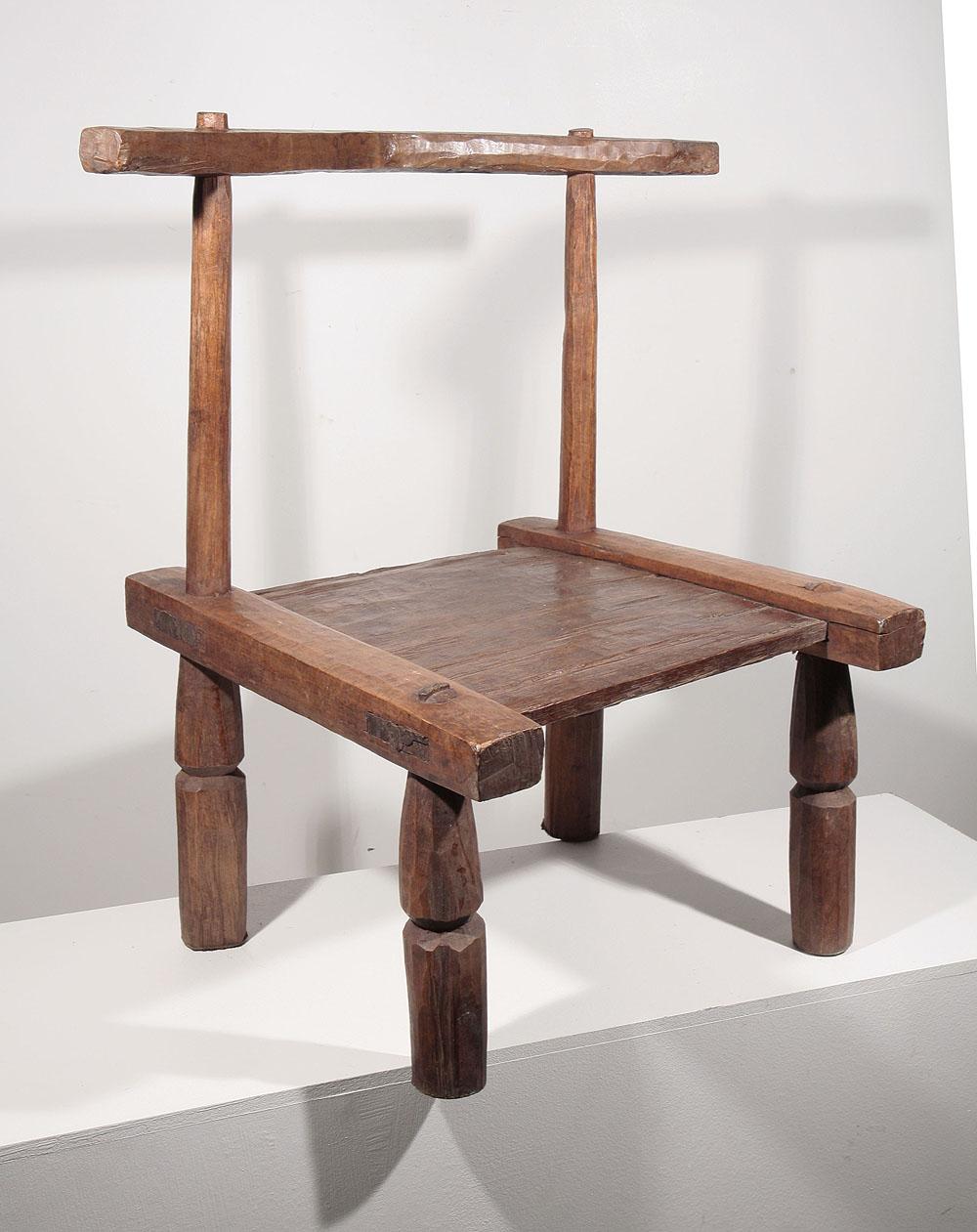 Chaise africaine baoul 10 496 95 galerie art africain for Chaise africaine