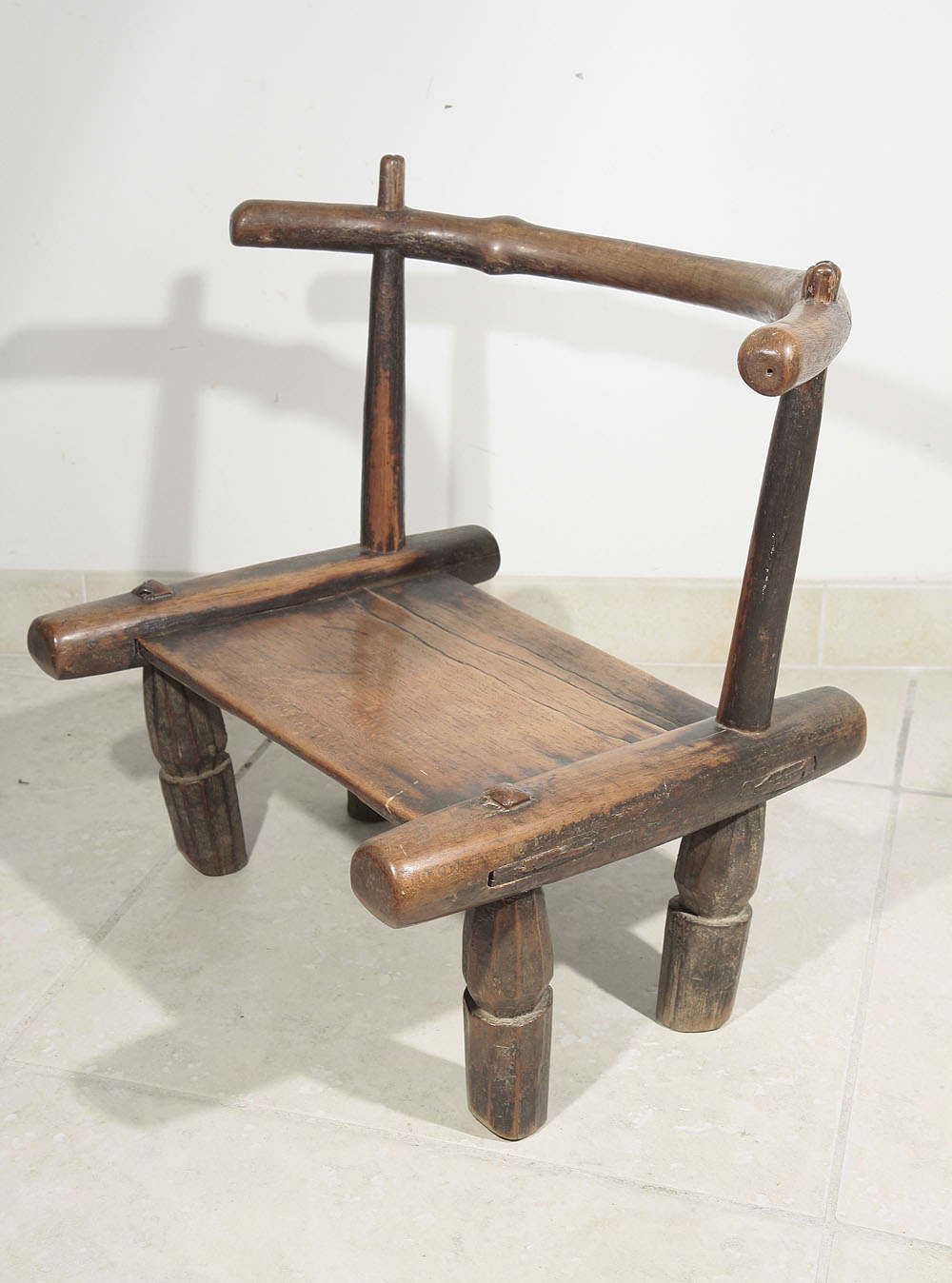 Ancienne chaise africaine baoul de c te d 39 ivoire 1104 07 for Chaise africaine