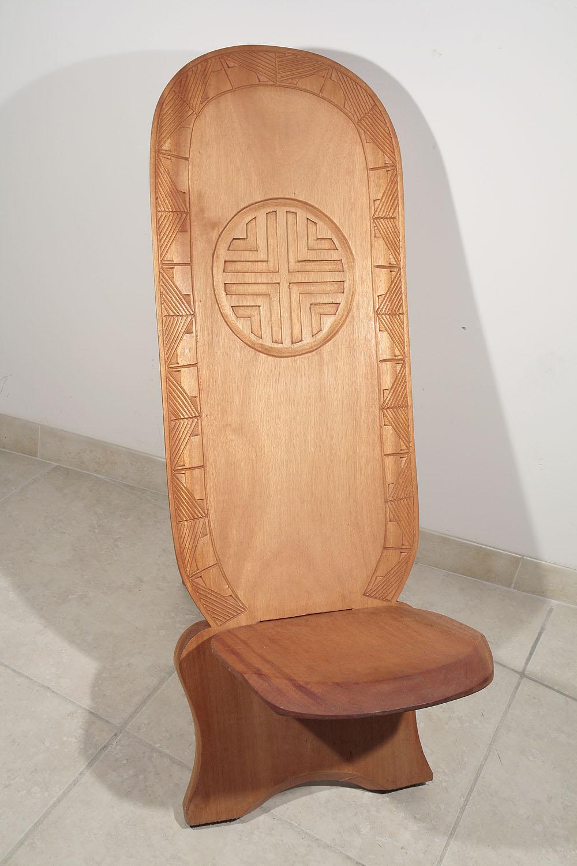 chaise palabre chaise de gardien poids baoule de c te d 39 ivoire 02 95 galerie art africain. Black Bedroom Furniture Sets. Home Design Ideas