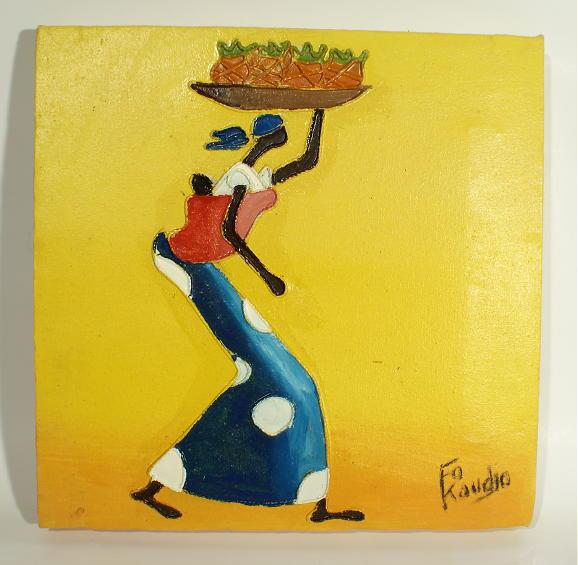 Peinture contemporaine africaine fo koudjo artiste peintre contemporain africai - Cote d un artiste peintre ...
