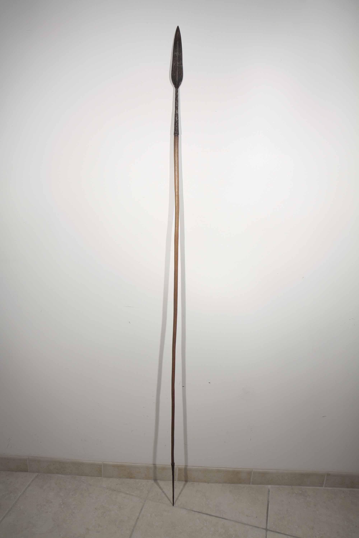 ancienne lance africaine de l 39 ancien oubangui chari