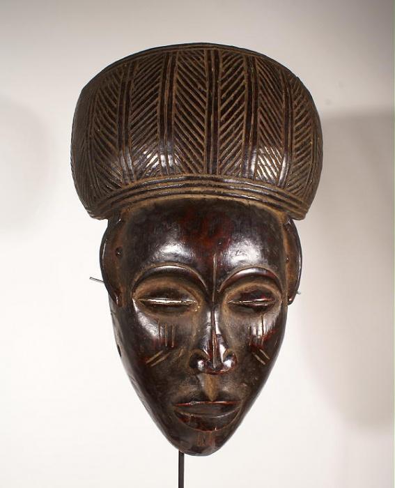 masque africain bronze ancien