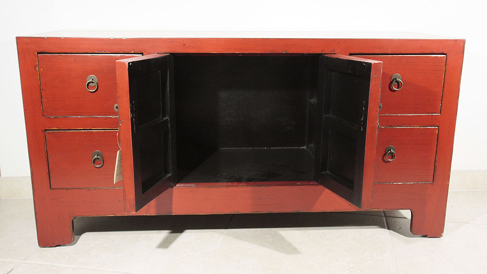 Meuble Tv Moderne Rouge : Accueil Meubles Chinois Buffet Bas Chinois Rouge Meuble Tv