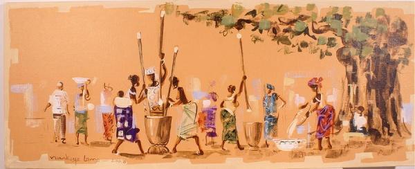 tableau africain ethnique