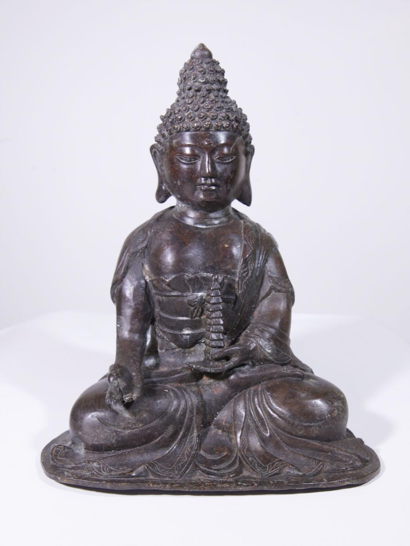 statue bouddha en bronze 10 008 60 galerie arts ethniques achat vente masques africains et. Black Bedroom Furniture Sets. Home Design Ideas