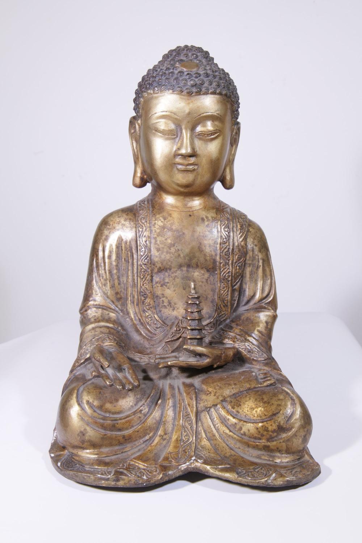 statue bouddha en bronze 10 012 140 galerie arts ethniques achat vente masques africains et. Black Bedroom Furniture Sets. Home Design Ideas