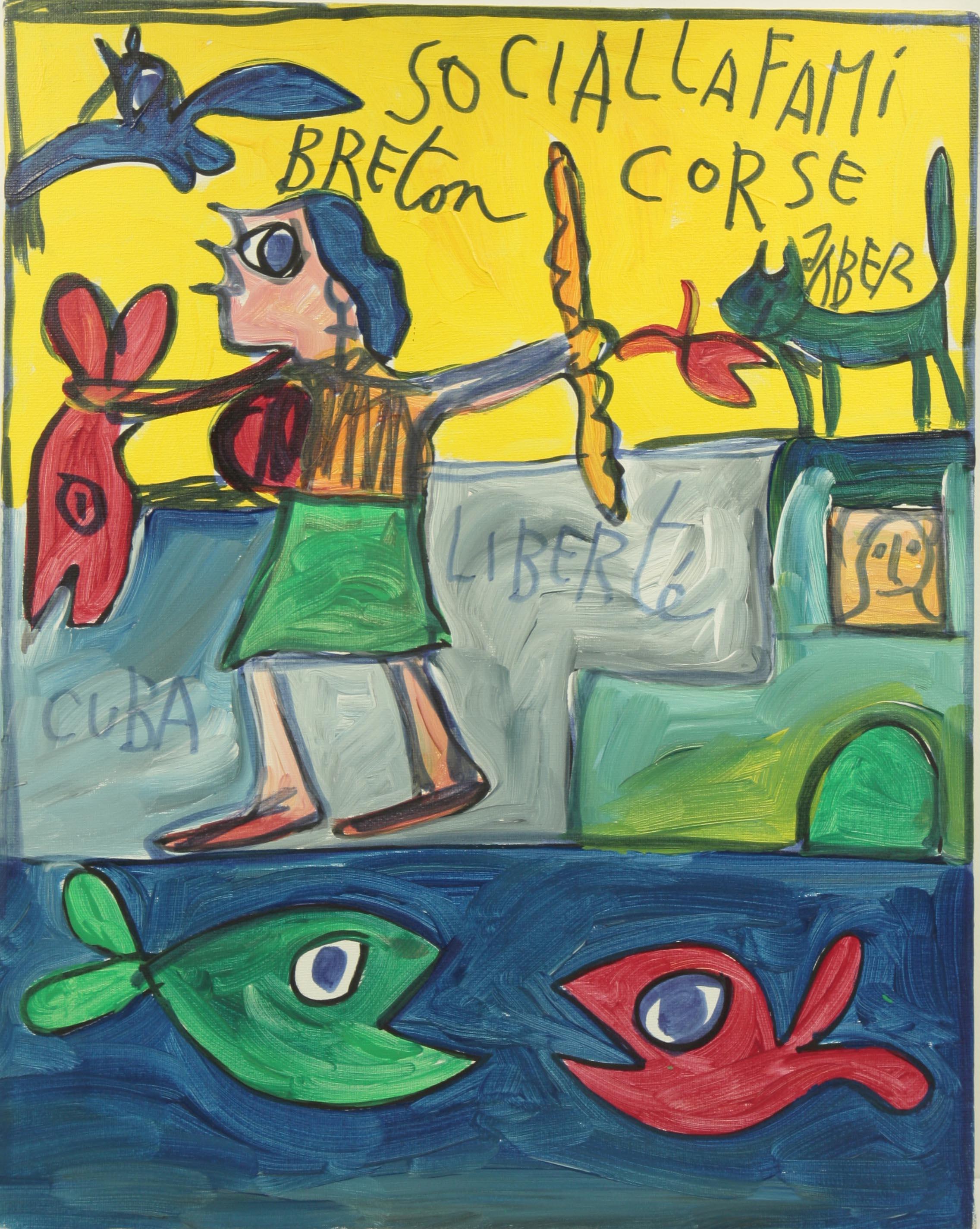 Jaber Breton Corse Acrylique Sur Toile 20022005 150 Galerie