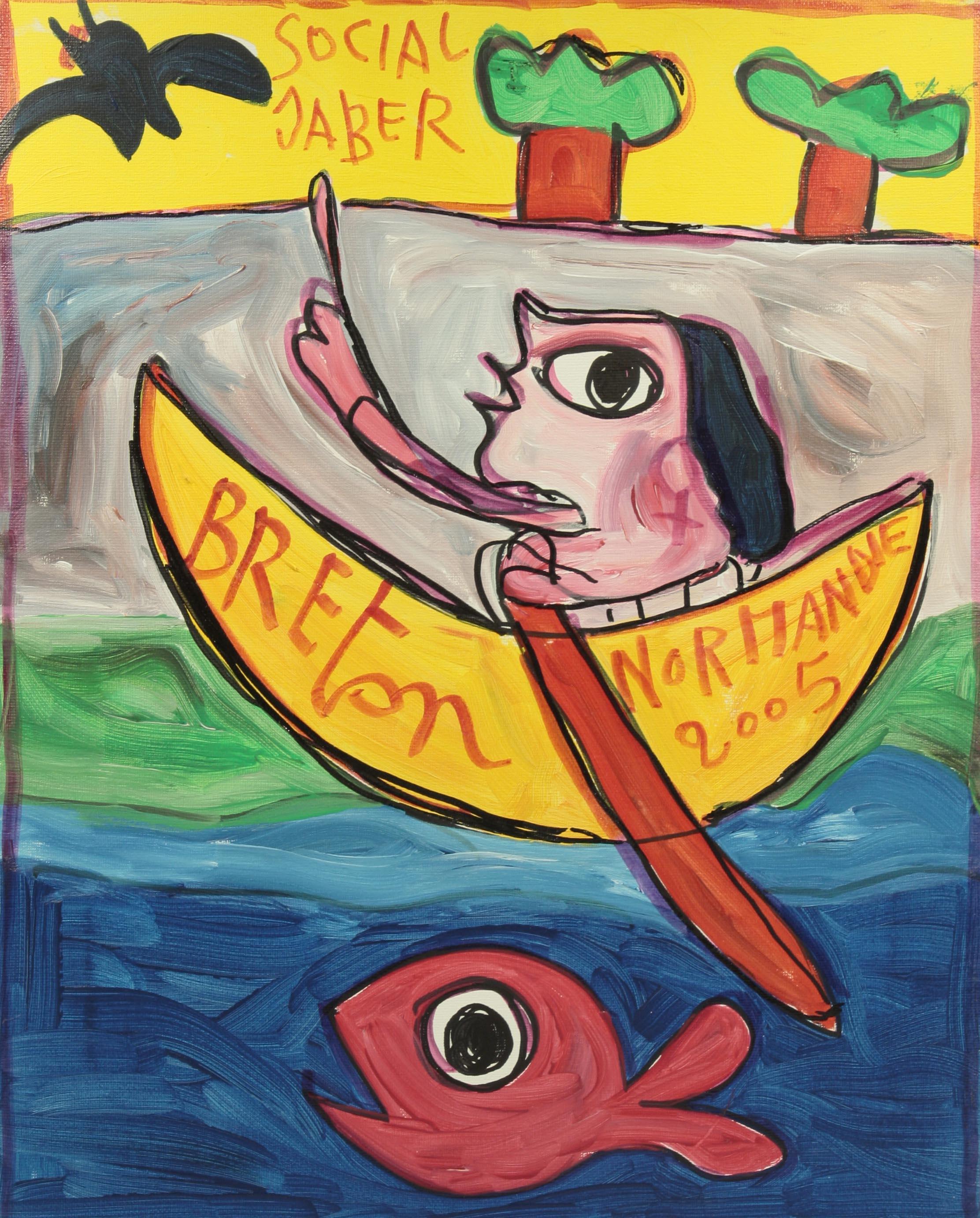 Jaber Breton Normandie Acrylique Sur Toile 2005 150 Galerie