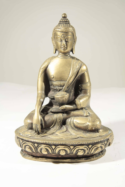 Bronze Buddha Statue From India 58 45 African Art
