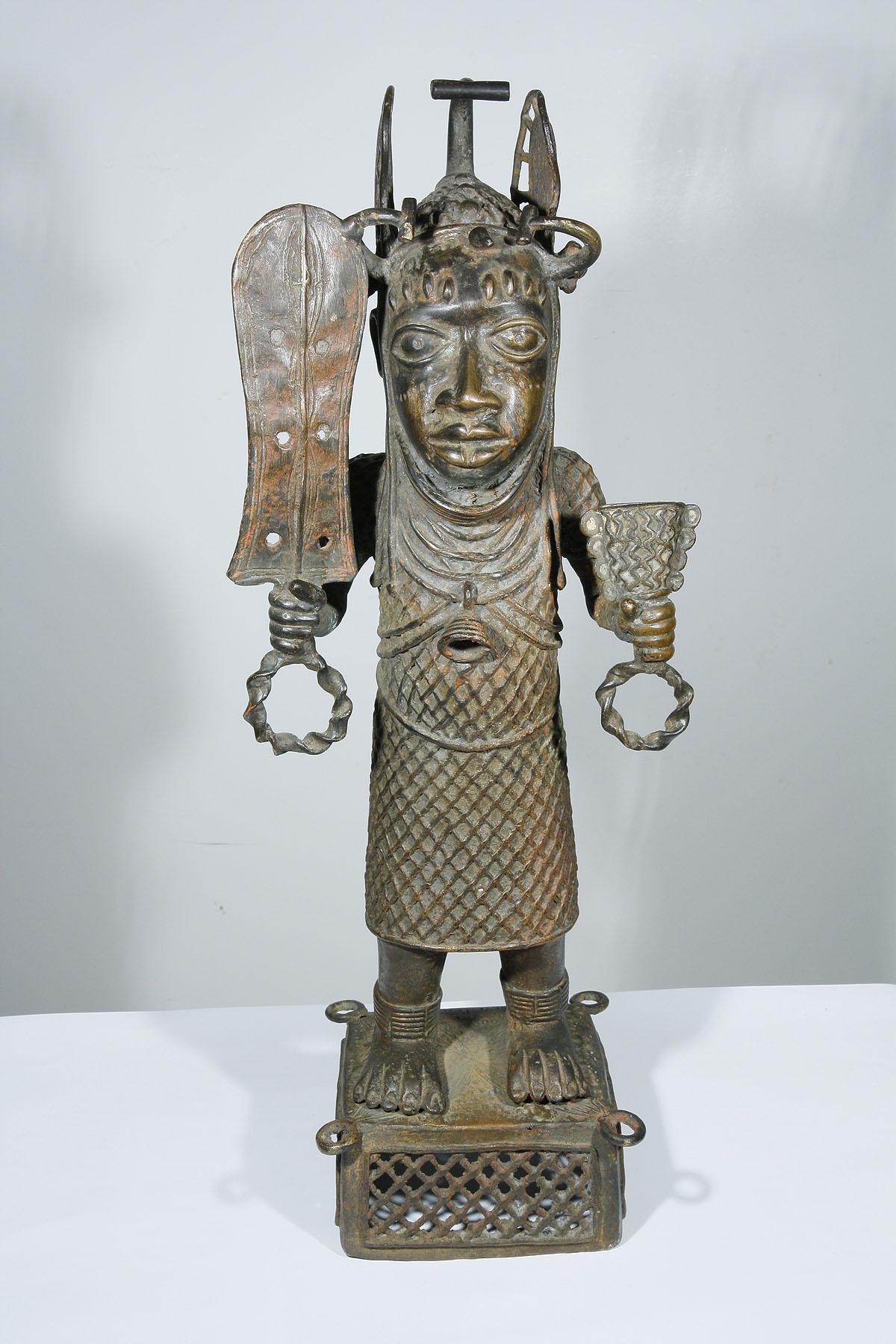 African Ife Bronze Warrior Statue From Benin 1203 006 500
