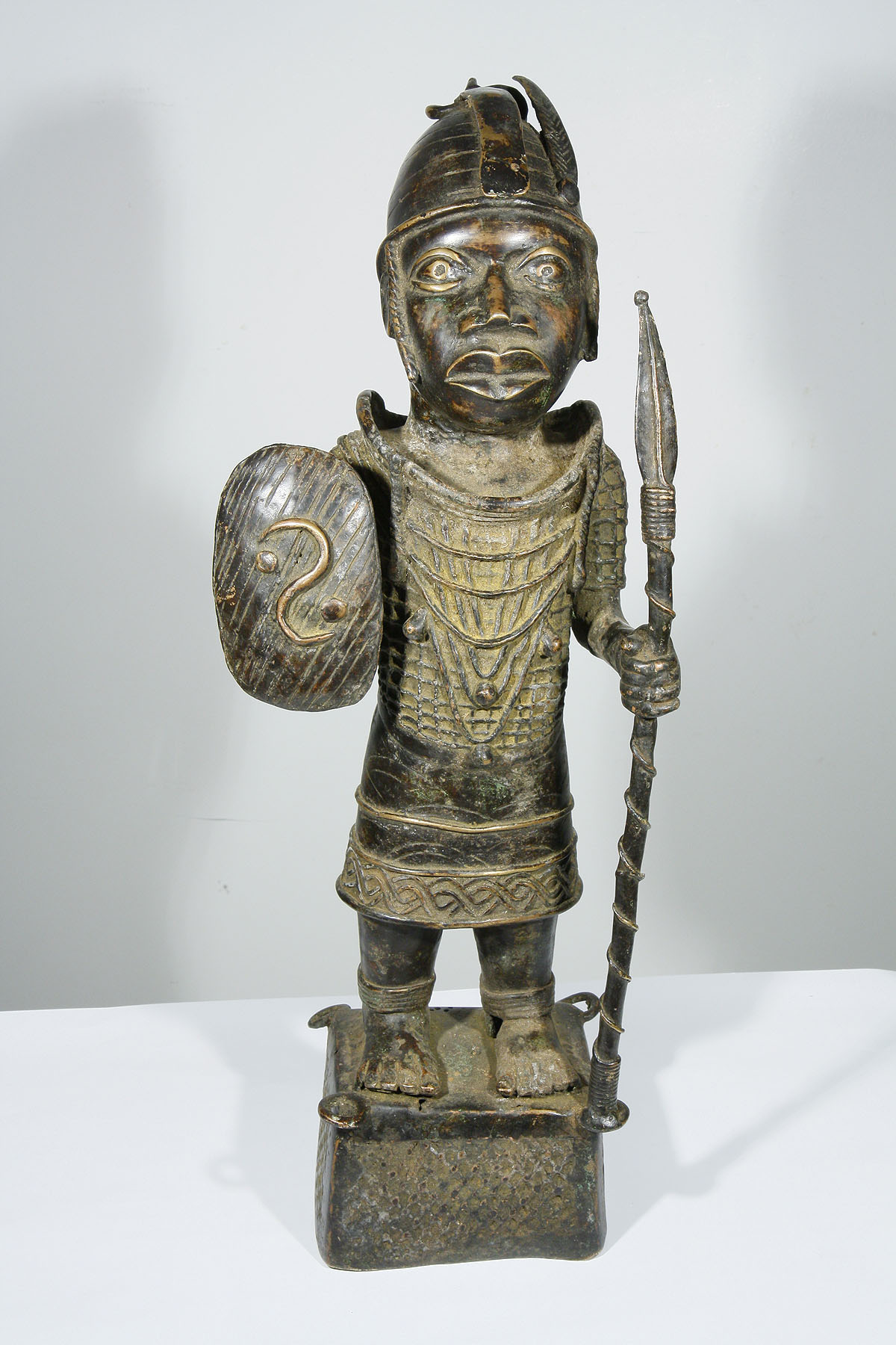 African Ife Bronze Warrior Statue From Nigeria 1203 007